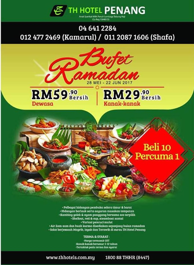 th hotel penang buffet ramadhan