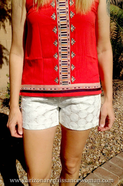 THML Ami Embroidered Top and Eden Society Chelsie Crochet Short (3) - Stitch Fix April 2016