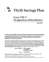 TSP-3 Form Designation of Beneficiary