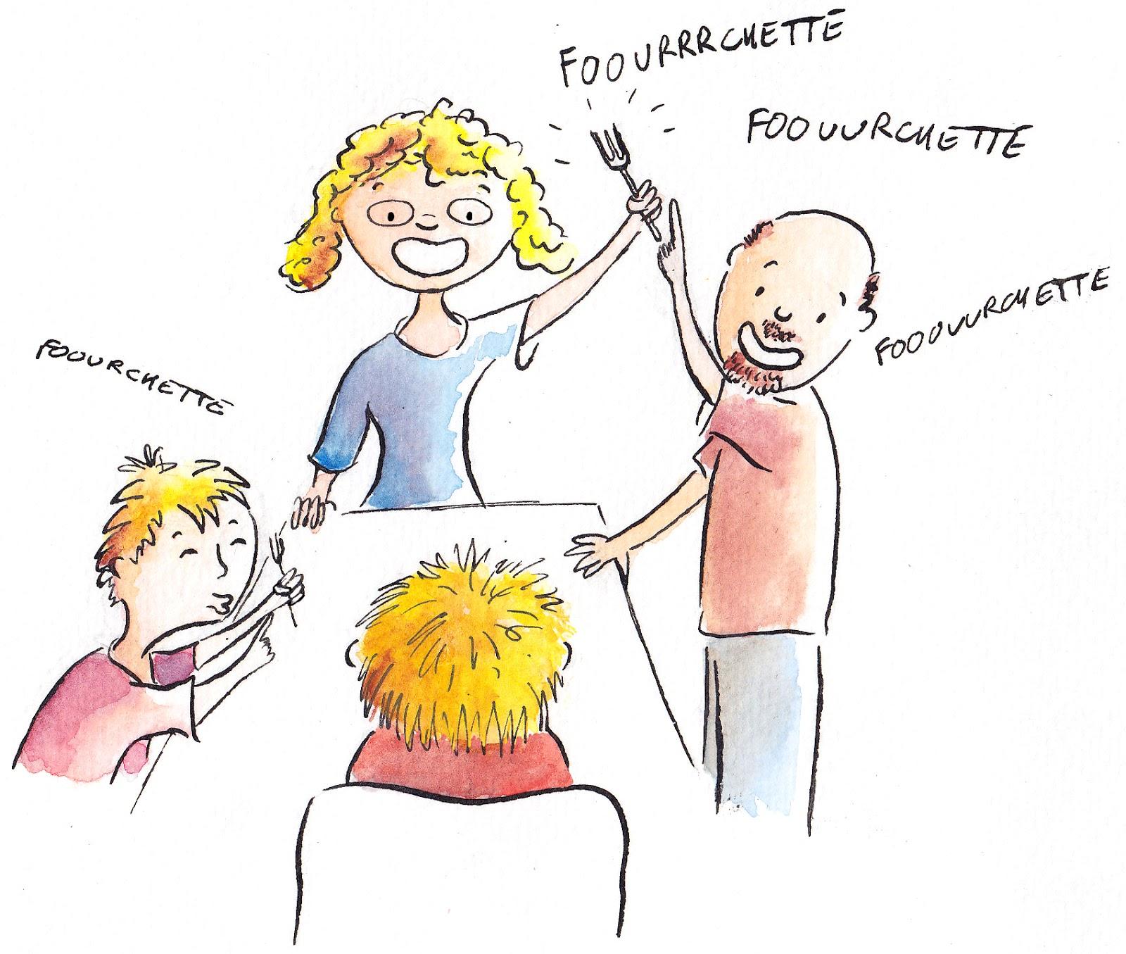 """""""vie de famille"""" illustration family"""