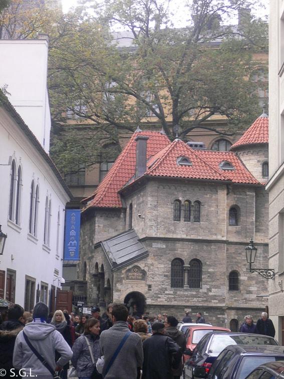 Sinagoga klaus en el barrio judio de Praga