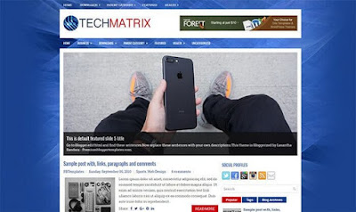 Tech Matrix Blogspot Template