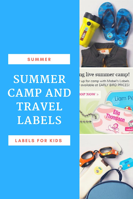 Personalized Labels for Kids Summer Activities and camp