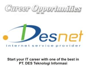 Lowongan Kerja PT DES Teknologi Informasi