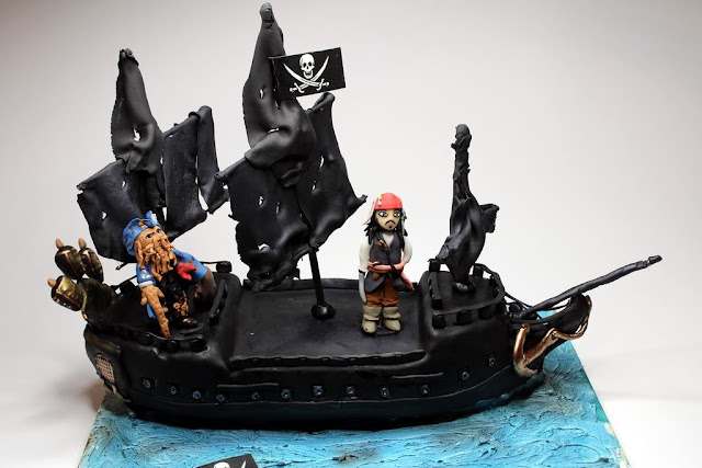 Pirates of Caribbean Birthday Cake