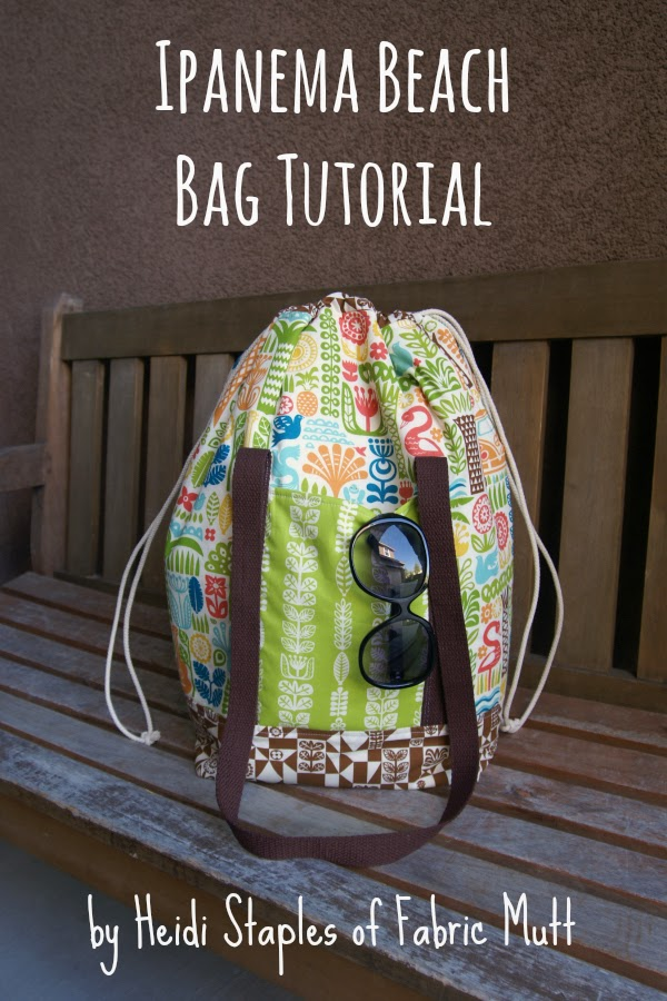 Ipanema Beach Bag Tutorial by Heidi Staples of Fabric Mutt