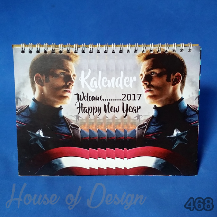 KALENDER MEJA MINI CAPTAIN AMERICA CUSTOM MURAH