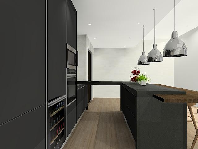 Meridian Interior Design - Windows On The Park, kitchen cabinet