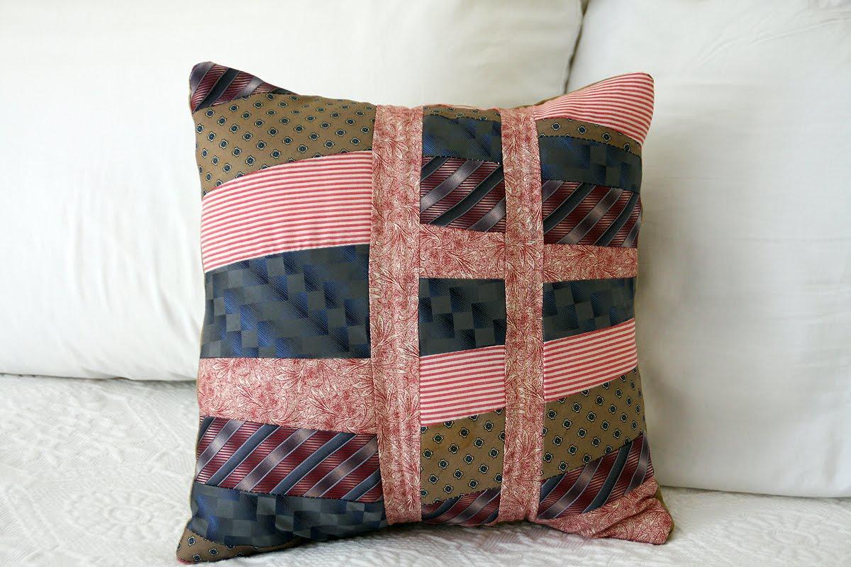 Shutterstitch Tie Pillows