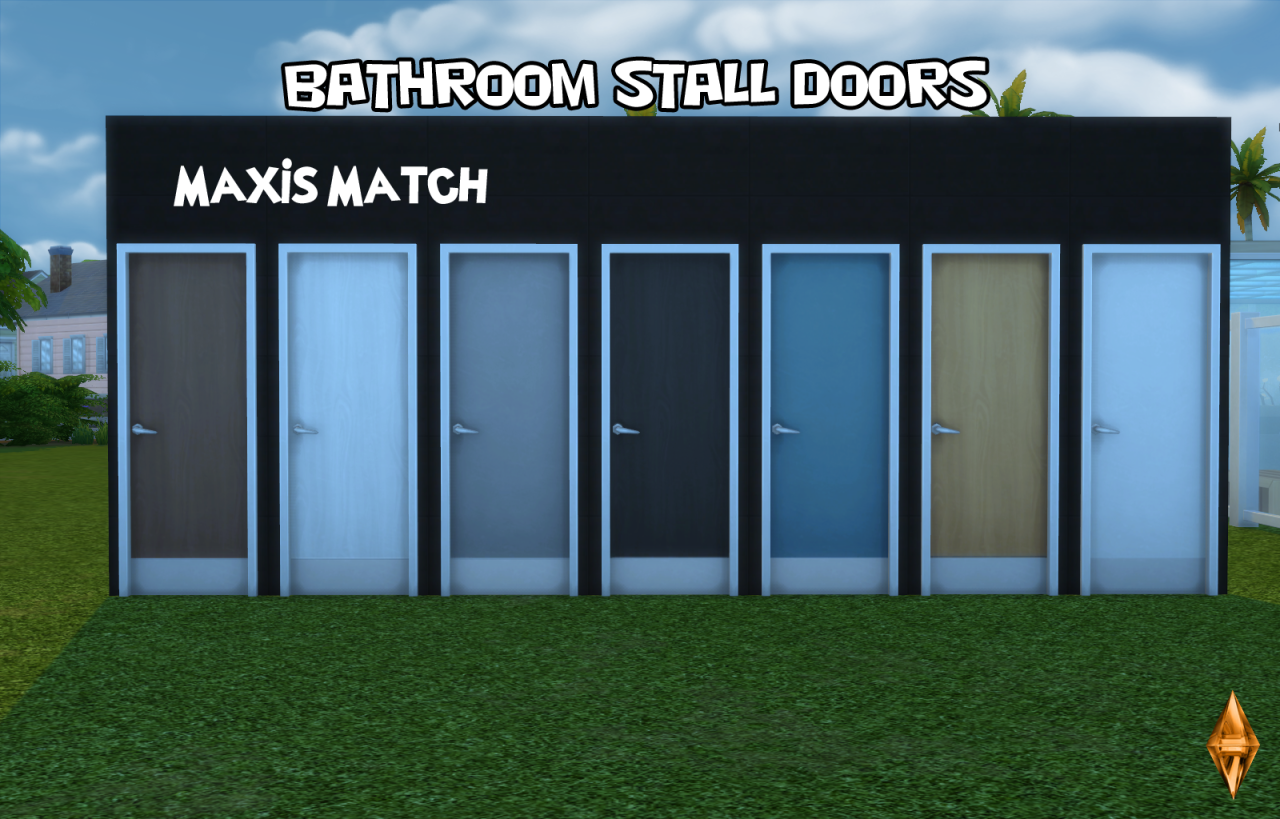 Bathroom Stall Sims 4 my sims 4 blog: bathroom stall doors without decalsopbsim4designs
