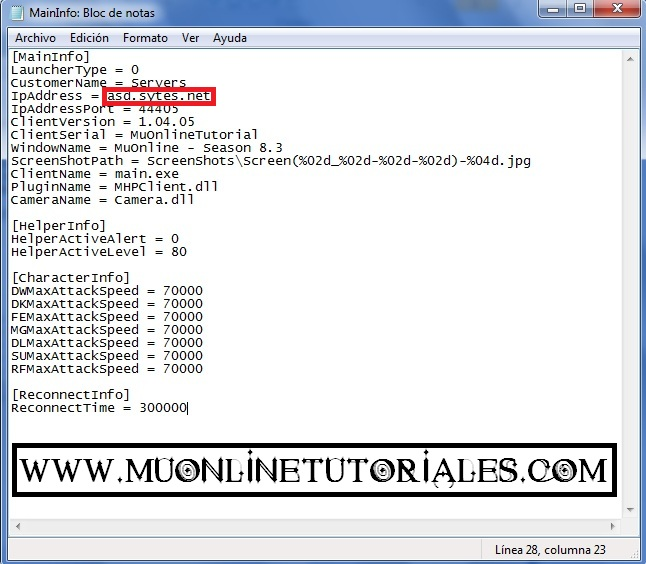 Generando el patch main_info