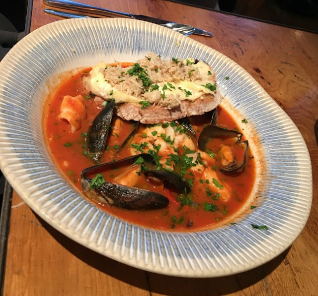 plate of fish stew