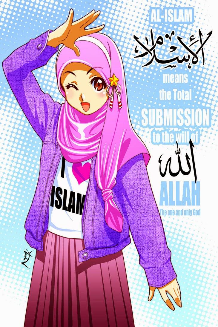 198 Gambar Animasi Hijab Galau