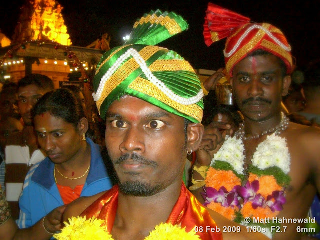 Thaipusam Festival, Malaysia, Kuala Lumpur, Batu Caves, kavadi attam, ceremonial sacrifice, ceremonial offering, Tamil man, Hindu man, Malaysian Indian man, street portrait