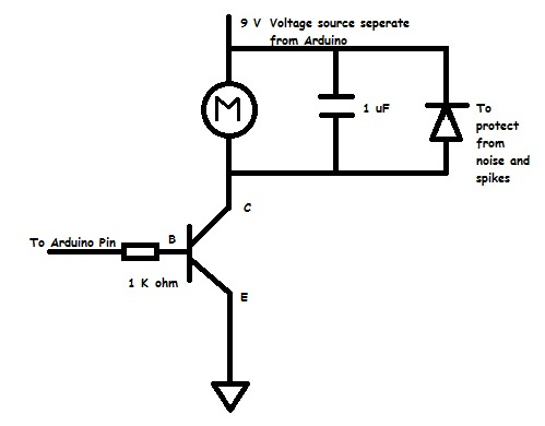 Arduino Project 5 - Controlling a DC motor and a Servo Motor