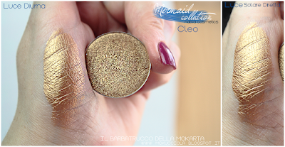 CLEO -  Eyeshedow ombretti Swatches, Comparazione  - MERMAID COLLECTION - NABLA COSMETICS