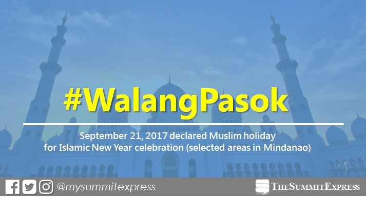#WalangPasok: September 21, 2017 declared Muslim holiday