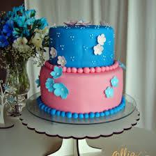 bolo azul menino e rosa menina