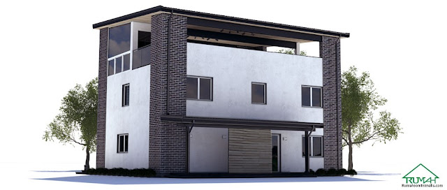 Denah Model Desain Gambar Rumah Minimalis Idaman Modern Tipe 233
