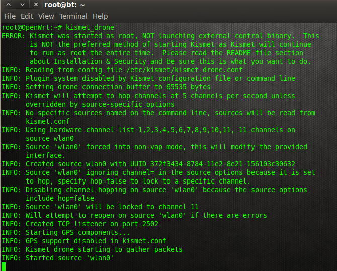 Nixor IDS: Running Kismet on OpenWRT with TP-Link TL-WDR4300