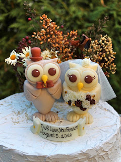 stunning owl wedding cake topper