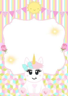 Convite Animado Unicornio Para Editar Grátis