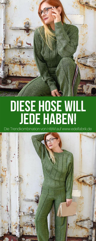Look mit grünem Glitzer von H&M