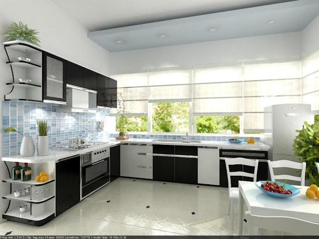 tủ bếp Acrylic nổi bật