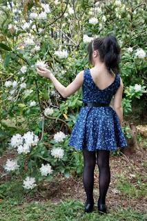 Moda primavera verano confección de vestido