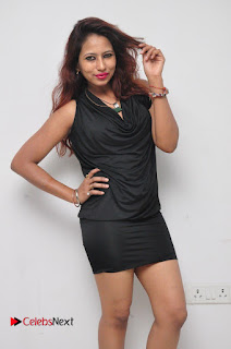 Model Sonia Pictures in Black Dress at Yes Mart Event  0010
