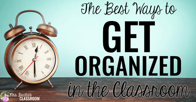 Classroom organization doesn't come easily to everyone. If you're a teacher looking to better organize your life in (and out of!) the classroom, this post is for you! Grab ideas, free app ideas and discounts for getting organized in your elementary or middle school classroom.