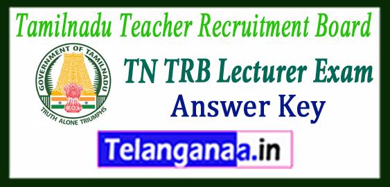 TRB TN Teacher Recruitment Board Tamil Nadu Polytechnic Lecturer Answer Key 2018