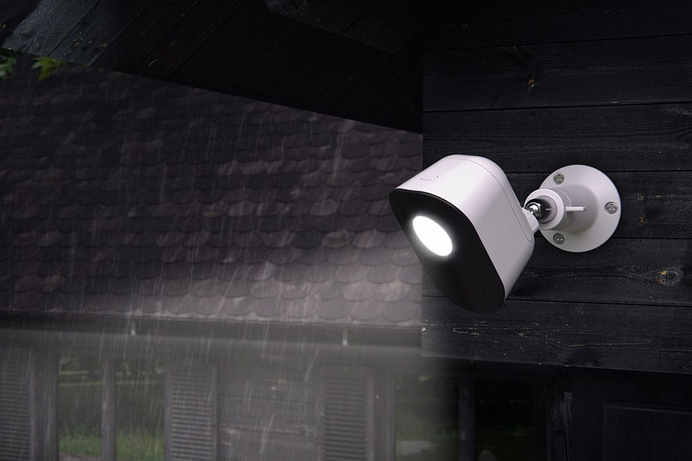 A solar powered security camera requires no power cables and power grid to work.