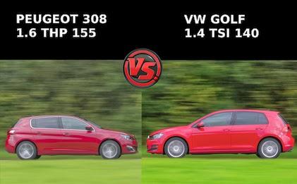 308 thp 155 allure vs golf tsi 140 atc confortline prueba comparativa. Black Bedroom Furniture Sets. Home Design Ideas