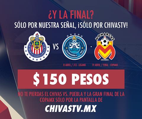 FChivas está ofertando el encuentro en paquete.