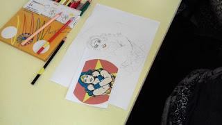 Dibuix colorejat per usuaris d'Aviparc Centre de dia