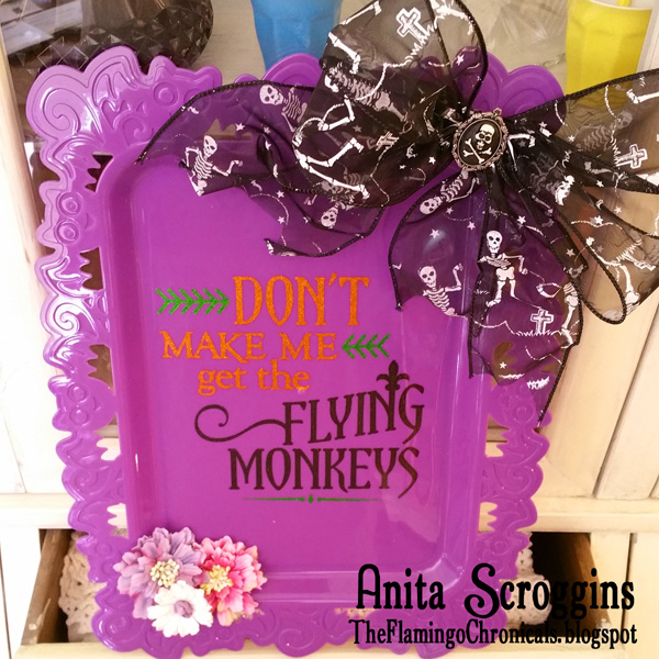 Flying Monkeys Halloween Tray