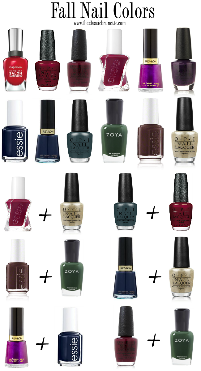 The Classic Brunette: Favorite Fall Nail Polish Colors + Pairings
