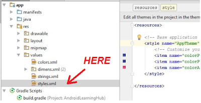 remove action bar android, remove action bar from activity, android learning hub, androidlearninghub, make android application of blog