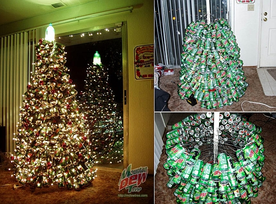 How To Recycle: Recycled Towering Christmas Trees