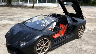 Keren, Petani Ini Sulap Sepeda Motor Jadi Lamborghini