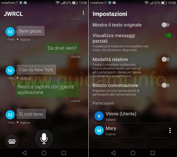 App Microsoft Translator traduzione multilingua in tempo reale
