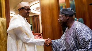 Pres. Buhari Holds Meeting With OBJ, Others At Aso Rock