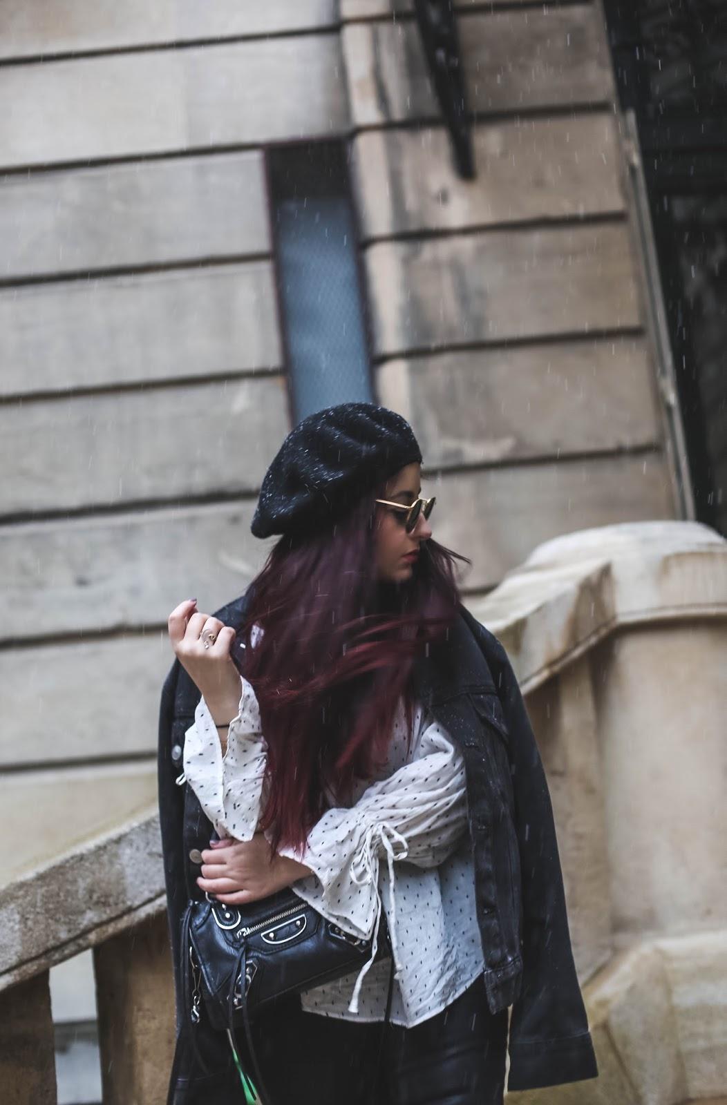 blouse à manches resserrées blog mode