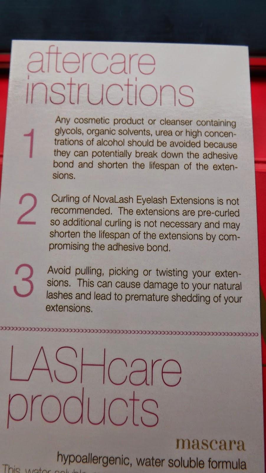 Novalash After Care Kit Missljbeauty