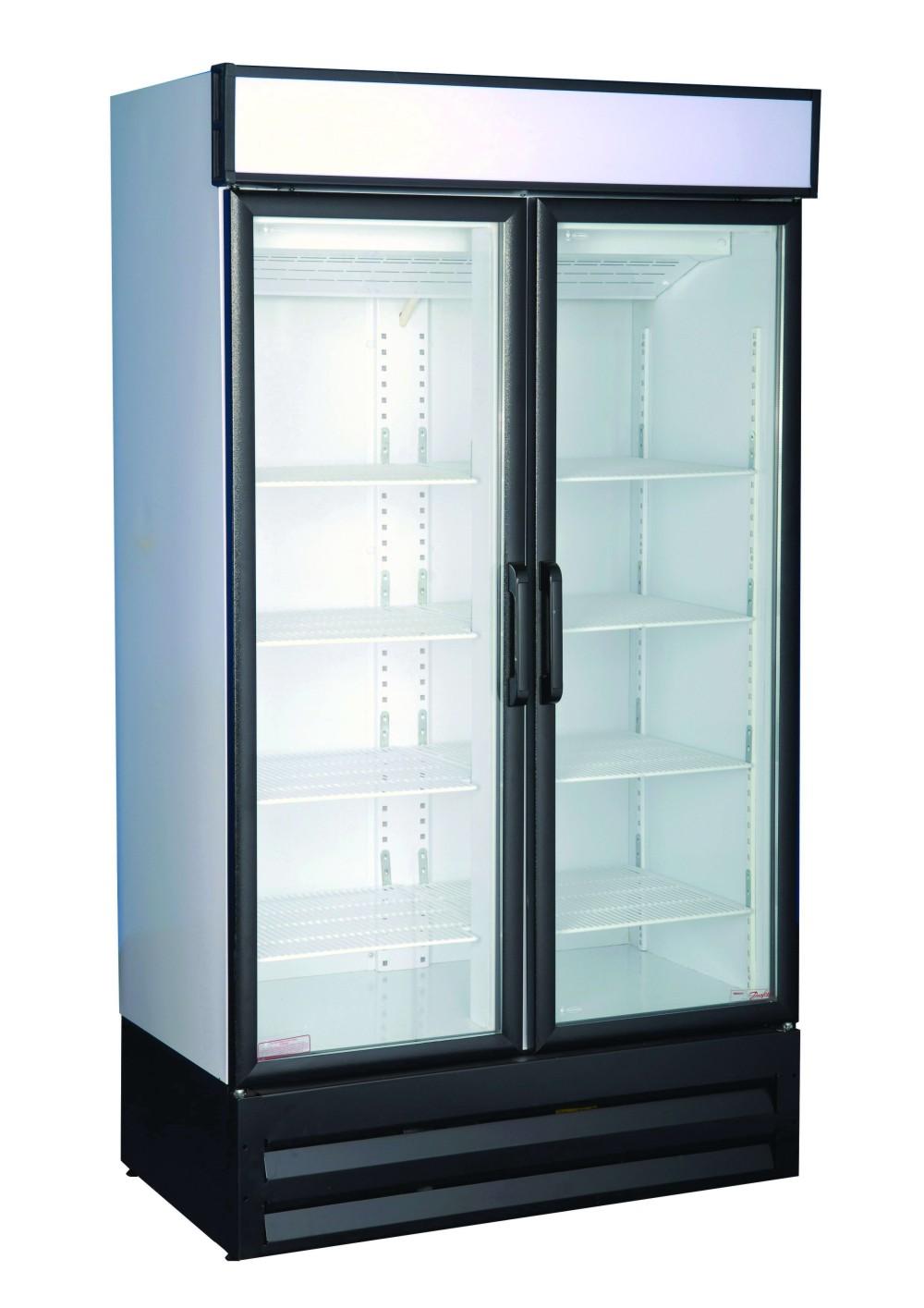 Cool Solutions: BEVERAGE COOLER DOUBLE GLASS DOOR SWING