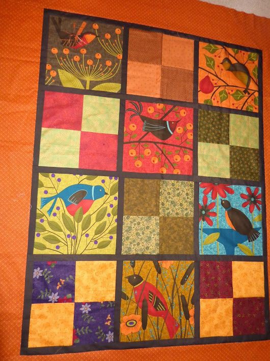 On the table to quilt