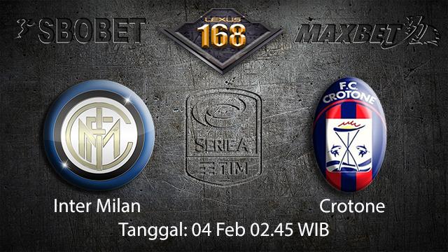 PREDIKSIBOLA - PREDIKSI TARUHAN BOLA INTER MILAN VS CROTONE 04 FEBRUARI 2018 ( ITALIAN SERIE A )