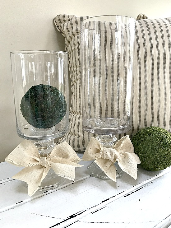 Make Your Own Pedestal Vases From the Thrift Store or dollar store