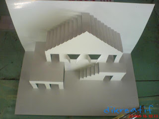 Cara Bikin Seni Kertas Kirigami Model Rumah Sederhana | Dikreatif Inspirasi Berkreasi